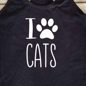 I Love Cats / paw / fur mom / cat mama / cat lady